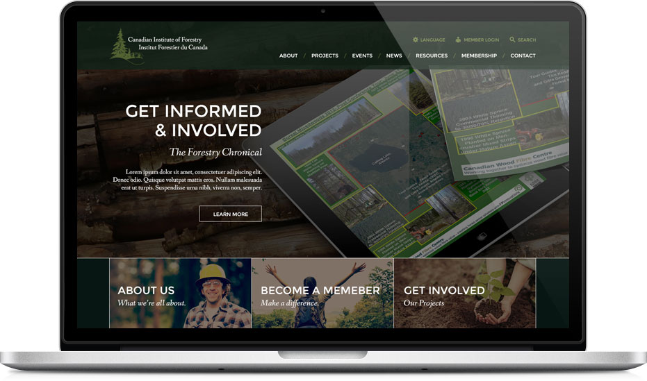 Canadian Institute Of Forestry Geek Power Web Design In Toronto